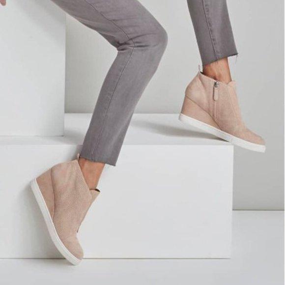 Nwt Anna Wedge Sneaker Blush Suede 8